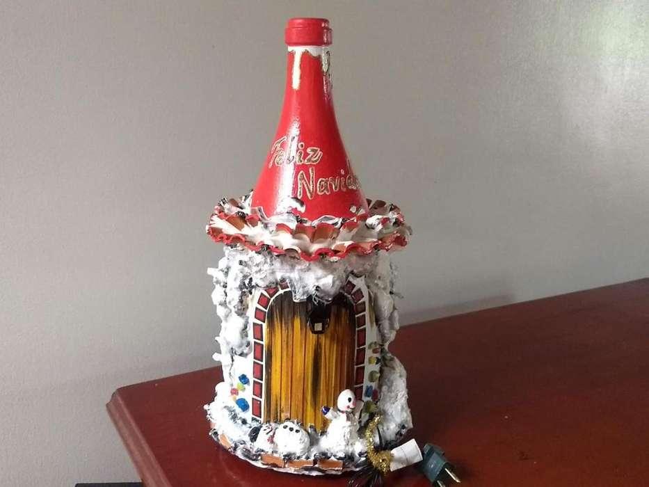Botellas decorativas - Navidad Decoración Adorno