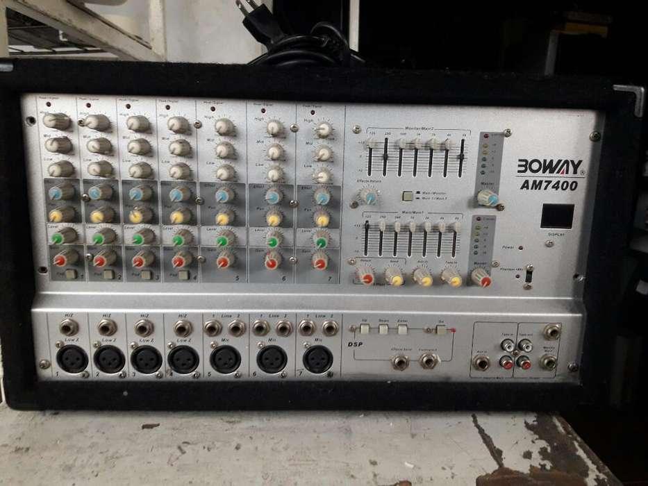 Amplificador Boway Am7400 de 7 Salidas