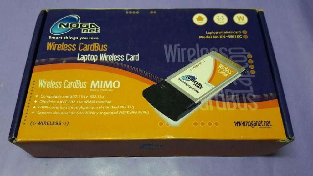 placa red PCMCIA Wireless Cardbus Noganet Model Knw610c