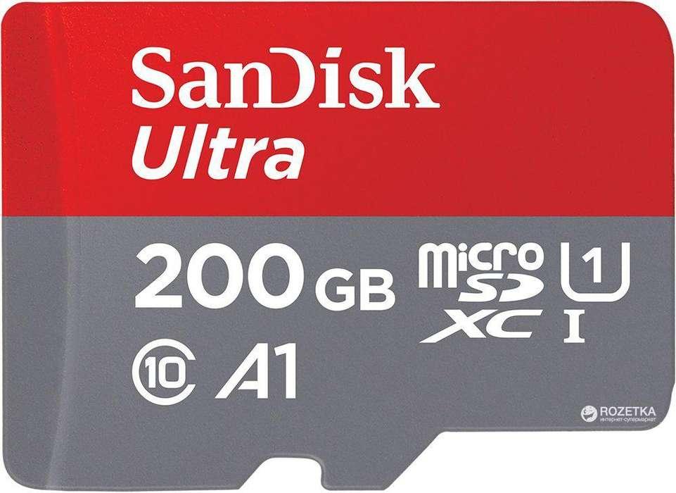Tarjeta de Memoria Micro SD XC UHSI Tarjeta Micro Sdxc Uhsi 200 Gb Sandisk Ultra ¡Tienda!