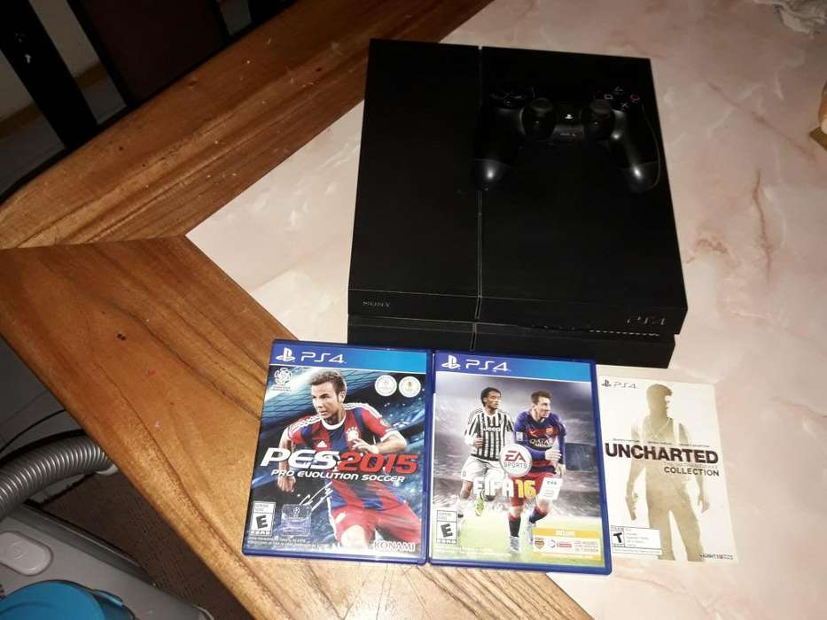 Playstation 4 500gb 4 juegos