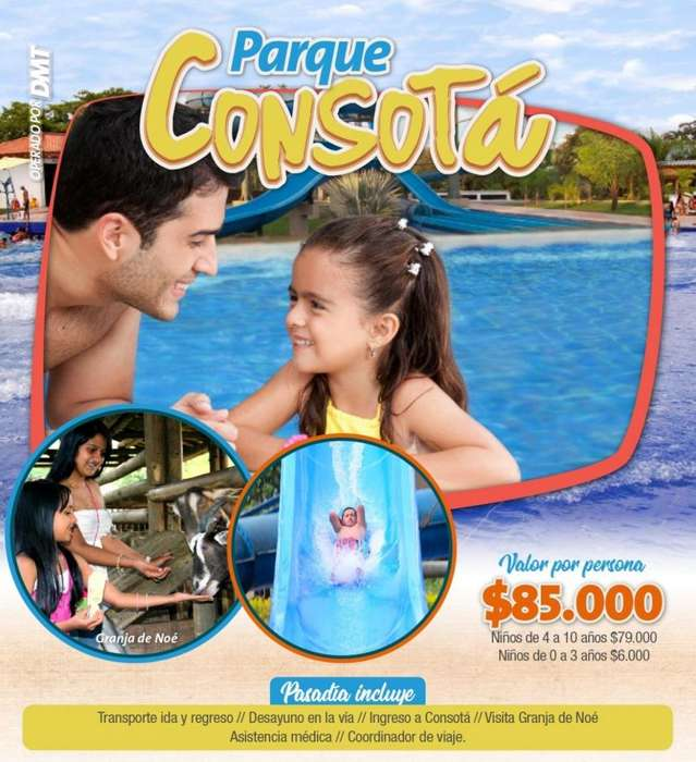 Parque Temático Consotá- Domingos.. Reserva ya !! tel 3152251840