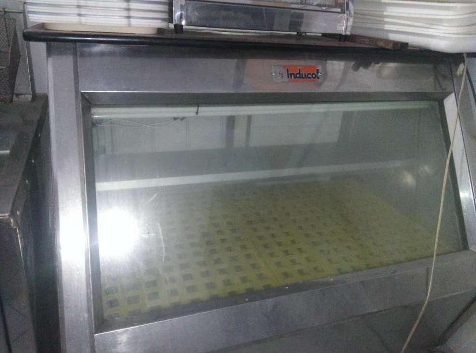 Nevera y congelador mostrador vitrina