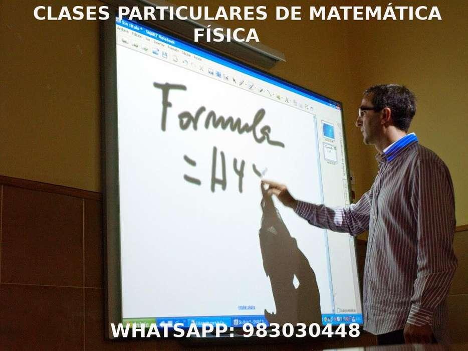 Clases particulares, Matemática Física