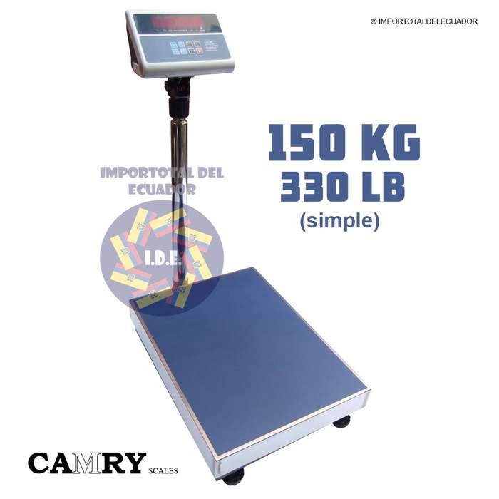 Balanza digital recargable ''nueva'' marca Camry con capacidad de hasta 150 kg ó 330 libras Modelo TCS 150 ZE21