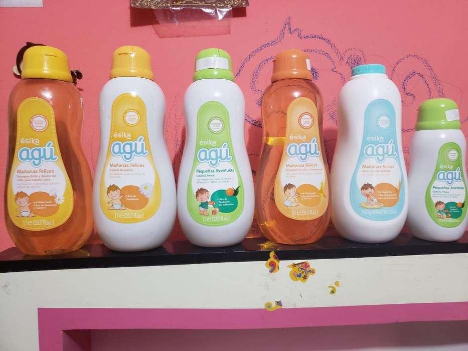 Productos Agú Shampoo, Colonia, Talco