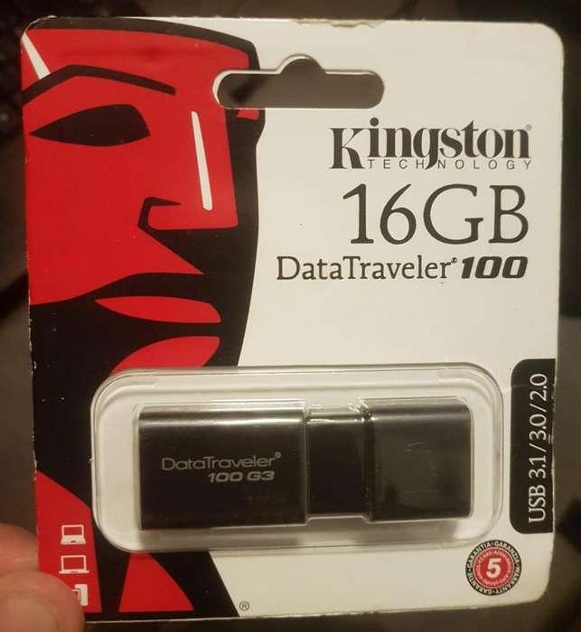 Pendrive de 16GB 3.0 kingston dt100