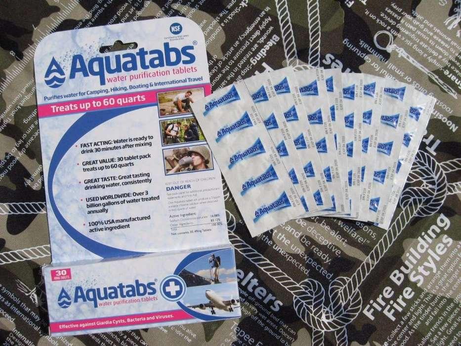 Tira de 10 Tabletas Pastillas Pildoras Purificadoras Agua Potable Camping Aquatabs