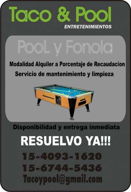 Alquiler de Mesas de pool y Fonolas Rockolas