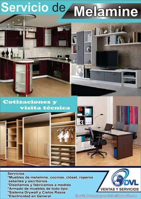 Fabricacion de Muebles de Melamine