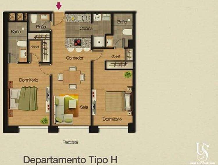 Moderno Departamento - 2 Dormitorios - Excelentes Áreas Comunales
