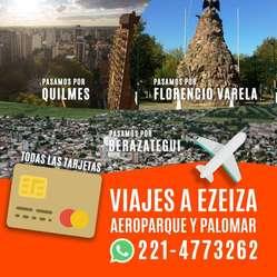 Combis a Ezeiza Aeroparque Y El Palomar