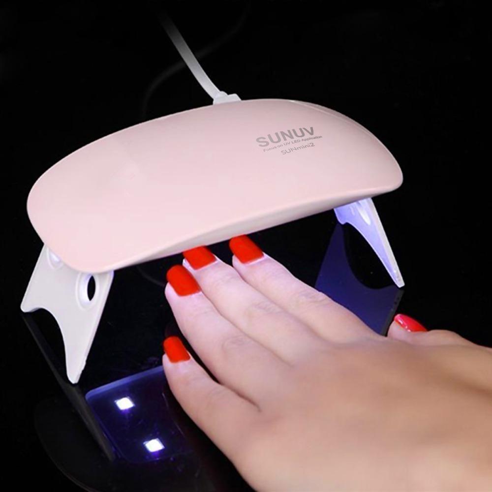 Mini Lampara Para Uñas Esmalte Gel Semi Permanente Uv/led
