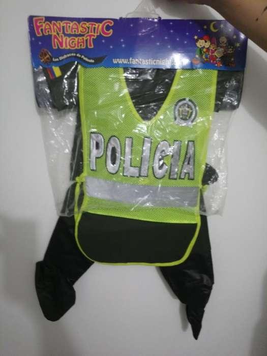 Disfraz Policia Nuevo Talla 2