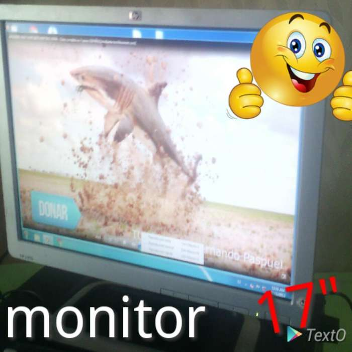 Monitor 17 Pulgadas Perfecto Estado.
