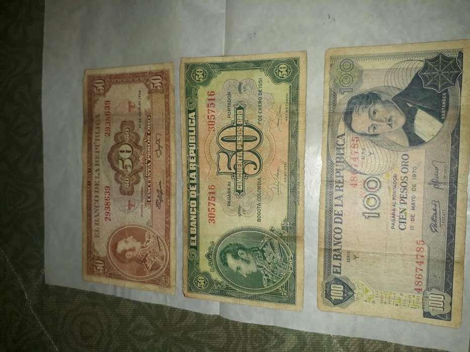 Vendo estos billetes antiguos