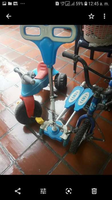 Triciclo Fisher Price Monopatin Y Vici
