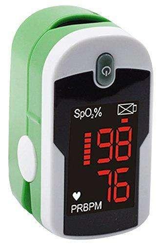 Pulsioxímetro / Medidor de saturación de dedo con pantalla reversible