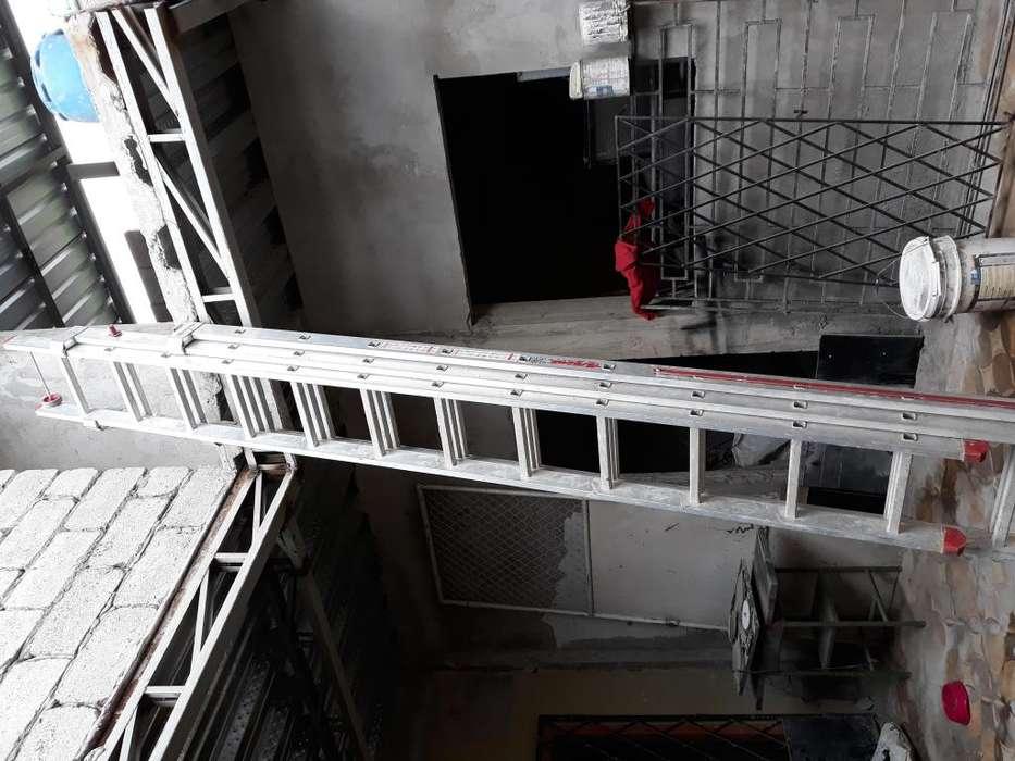 vendo escalera telescopica importada max 7 mts