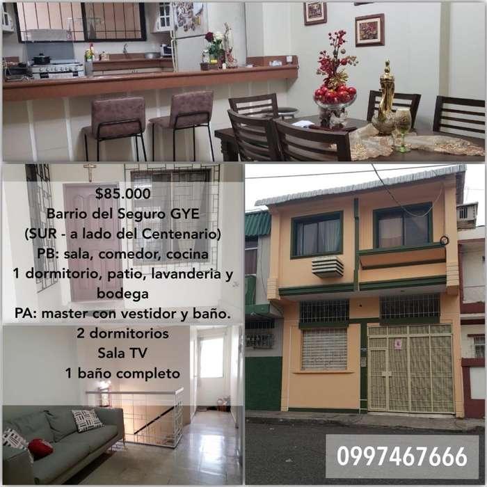 Vendo Casa 2 Pisos Sur de Guayaquil
