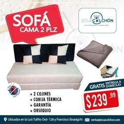 !!!!! PROMOCIONES DE SOFA CAMAS 2 PLZ !!! SOFACAMAS MAS OBSEQUIO, ENTREGA A DOMICILIO ** 0960705637 ** whatsapp