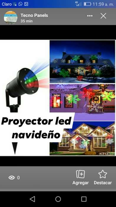 Proyector led navideo y Mini lser