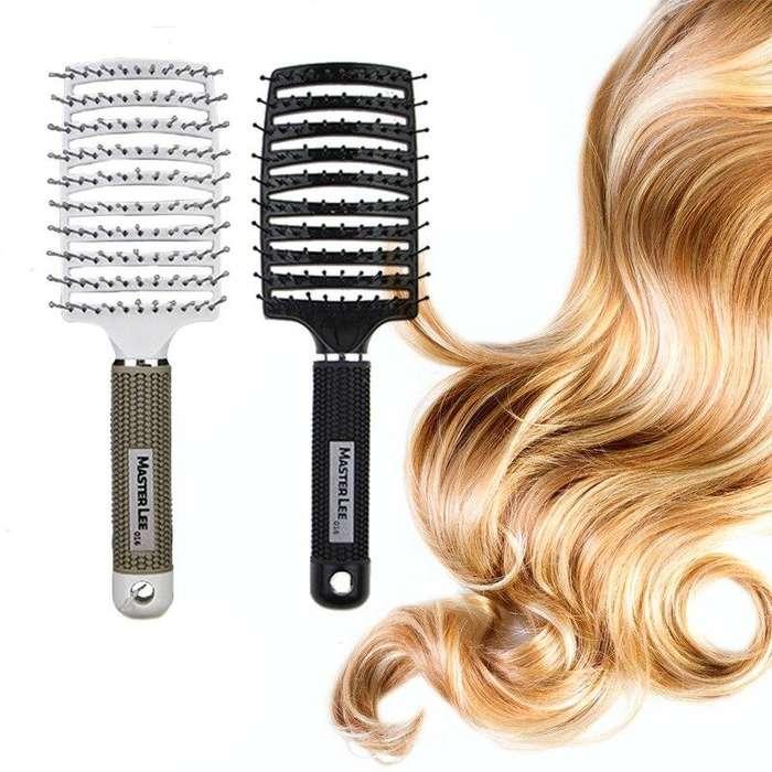 Nuevo Cepillo Ergonómico Diseño arqueado, aspecto elegante Estimula el crecimiento del cabello