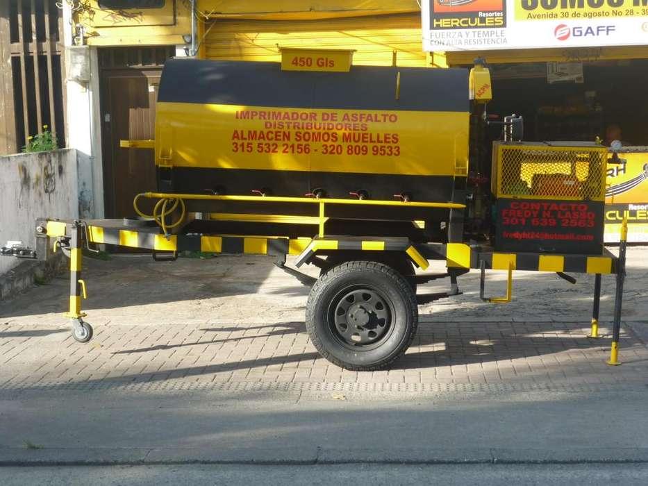imprimador para emulsion asfaltica portati con calefaccion