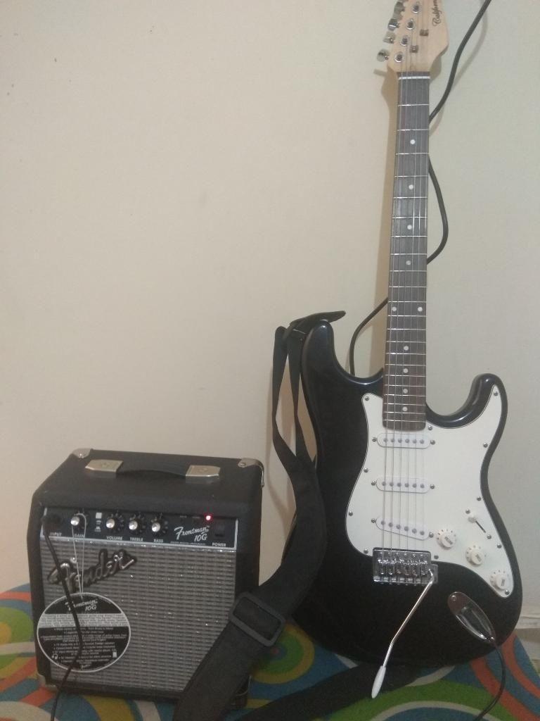 Amplificador Fender 10G con Guitarra Electrica