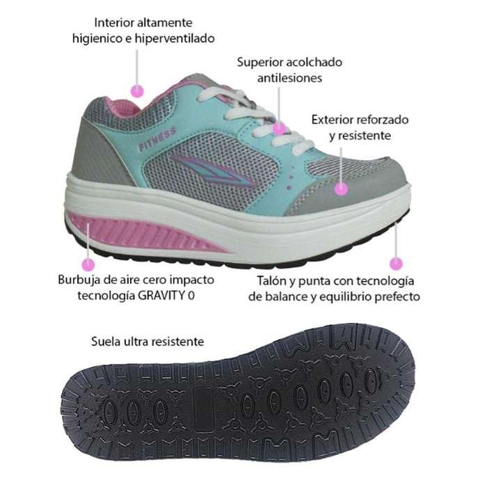 Tenis Agua Rosa Tonificar Caminar Fitness Shoes... Telecompras Colombia