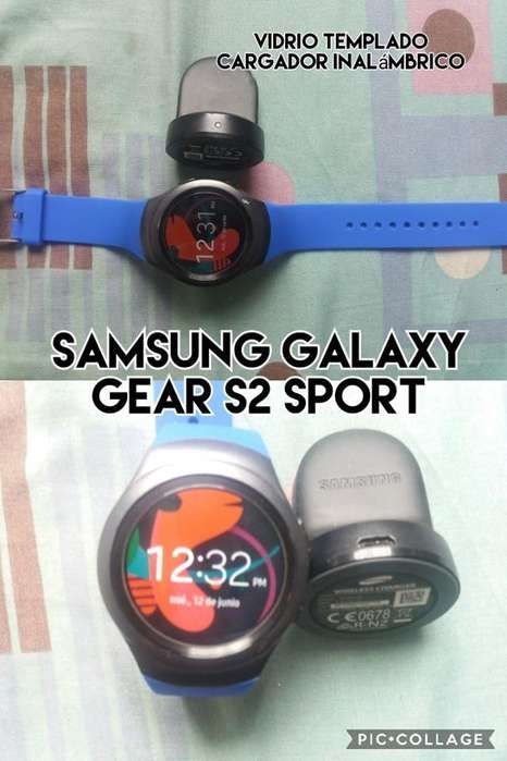 samsung galaxy gear s2 sport vidrio templado cargador inalambrico venta cambio