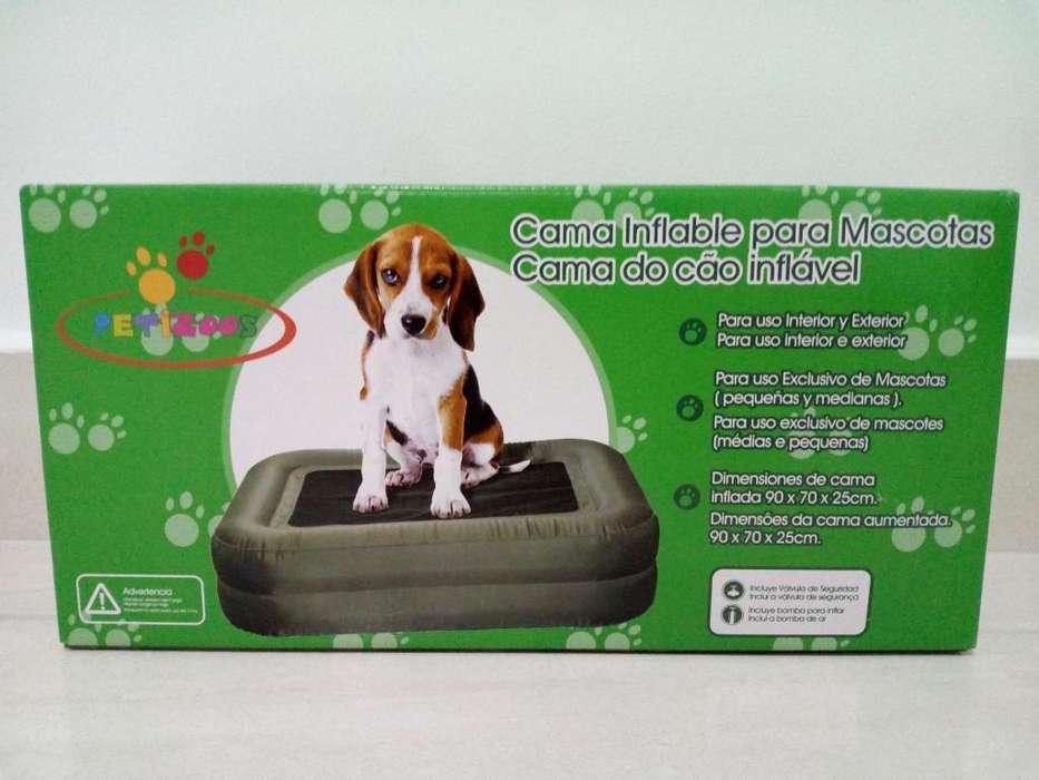 Cama Inflable para Mascotas Pequeñas