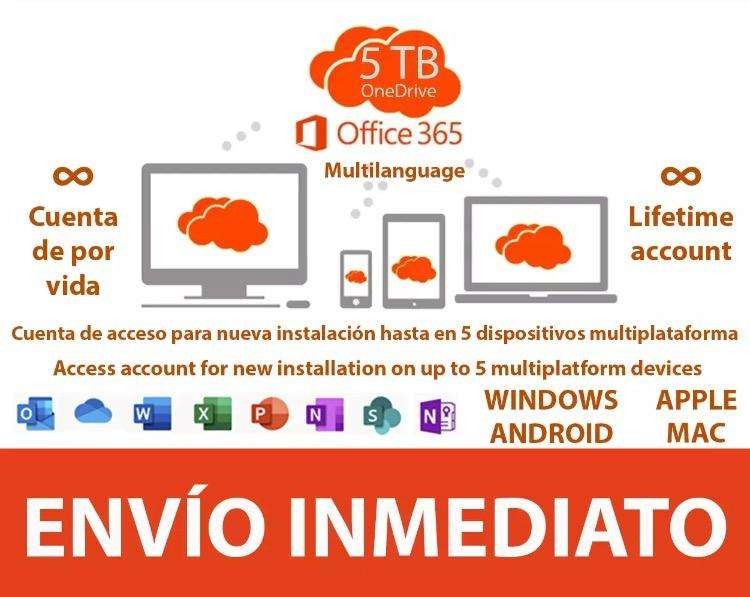 Office 365 2019 Win/Mac Original 5 Pcs