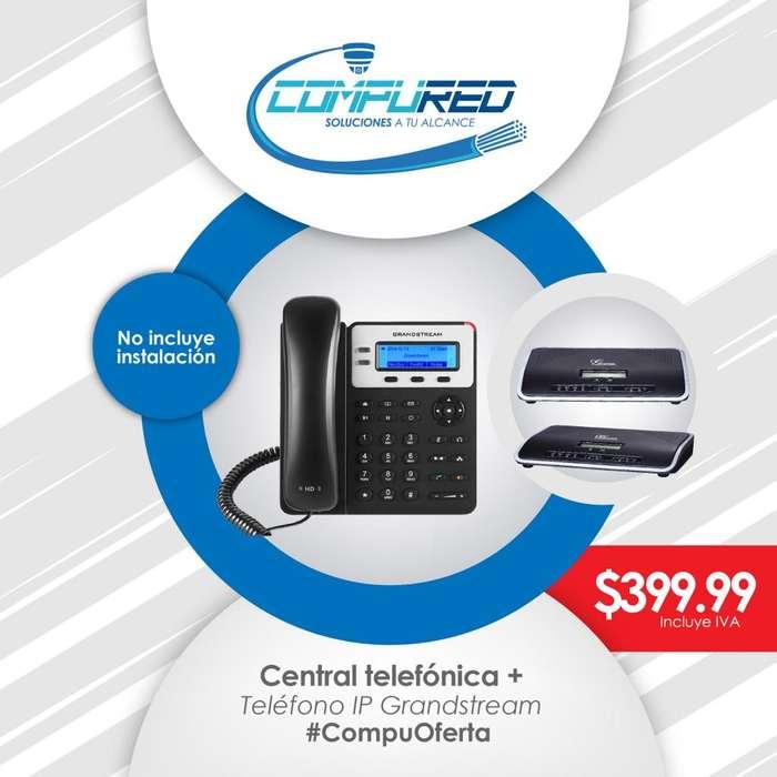 Central Telefónica Ip PBX Grandstream UCM 6102 Incluye teléfono