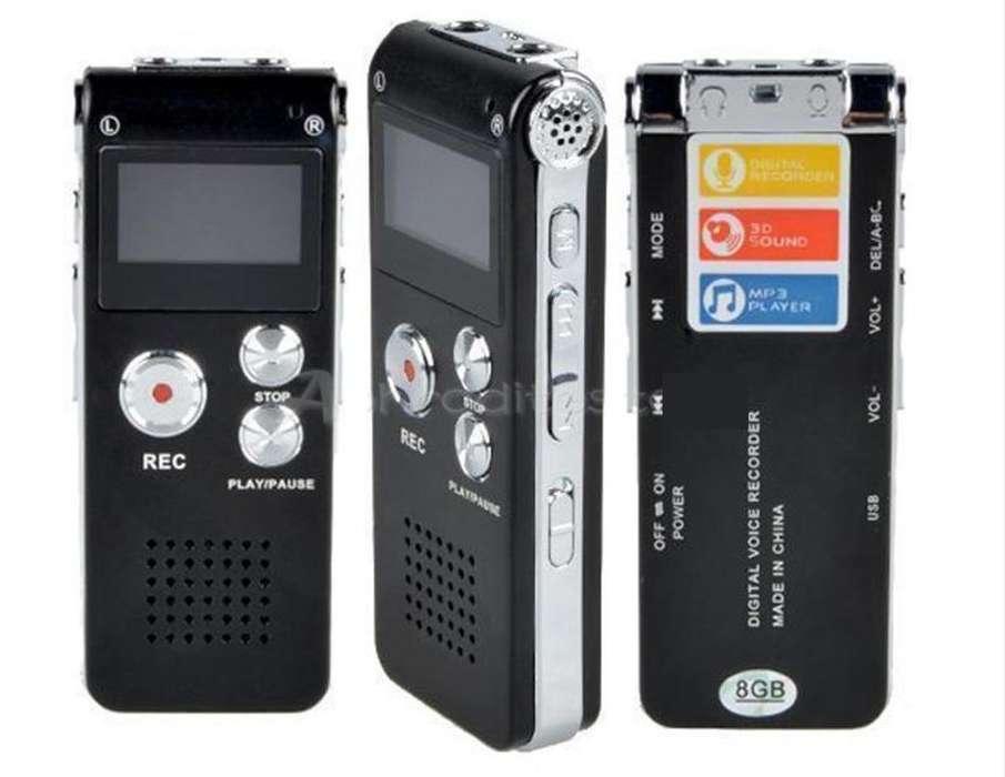 Grabadora de voz 8gb Nueva Dictáfono Reproducción MP3 Música Memoria USB Mic