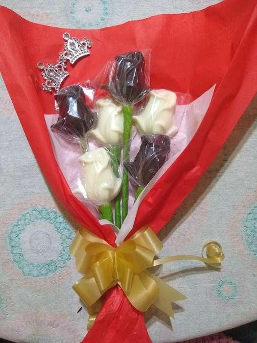 Ramo de 6 Rosas de Chocolate