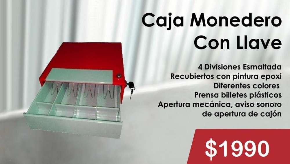 CAJA MONEDERO CON LLAVE