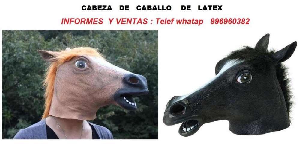 mascara halloween hora loca caballo