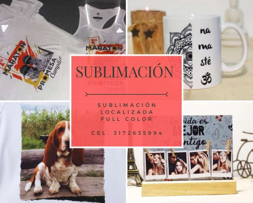 Sublimación: Camisetas, Mugs, Láminas,