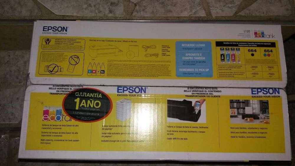 Impresora Epson L120 Totalmente Nueva