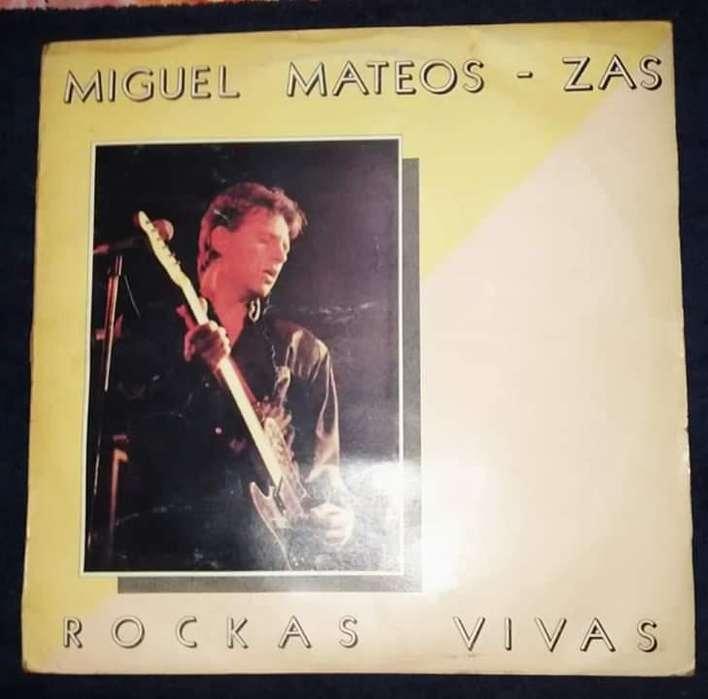 DISCO DE VINILO MIGUEL MATEOS ZAS ROCKAS VIVAS.