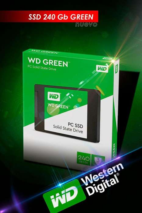 Disco Solido Ssd Wd 240gb Green 2.5 <strong>pc</strong> , Notebook