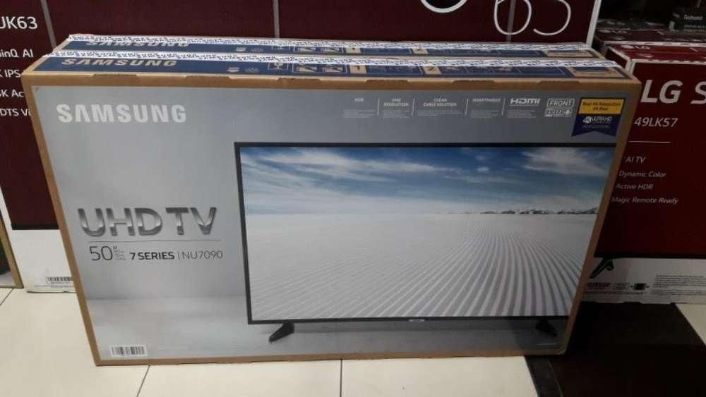 Samsung Smart 50 4k Serie 7 Nuevas Paque