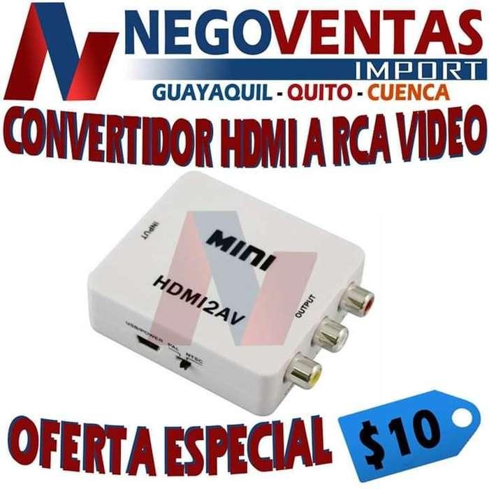 CONVERTIDOR HDMI A RCA VÍDEO PRECIO OFERTA 10,00