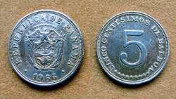 Moneda de 1 centésimo de balboa Panamá 1953