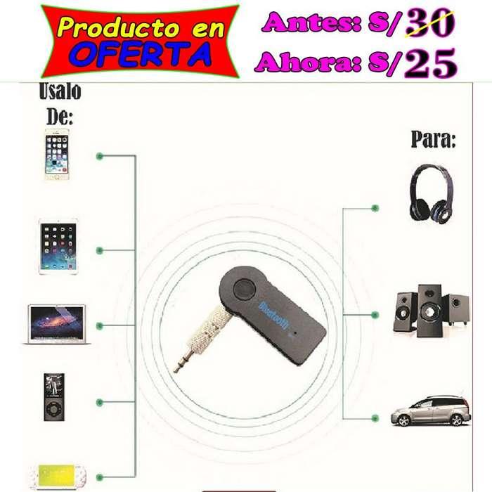 Adaptador receptor bluetooth de audio para radio tipo Auxiliar (AUX) de calidad y bajo precio en Piura