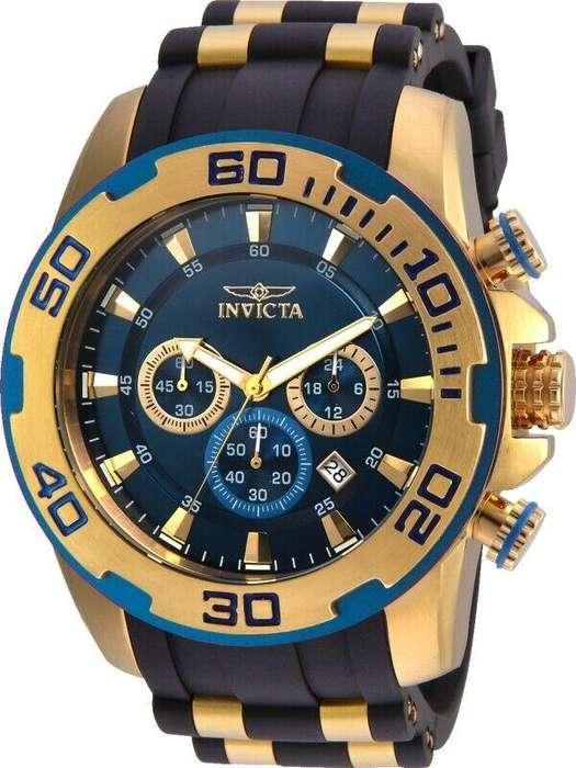 Reloj Hombre Invicta Pro Diver Crono Dorado Negro 22341