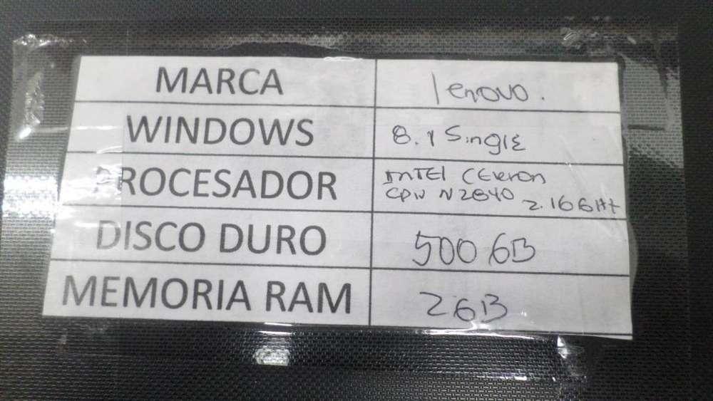 COMPUTADOR PORTATIL LENOVO G40 DISCO 500GB, RAM 2 GB , INTEL CELERON 2840,2.16 GHZ
