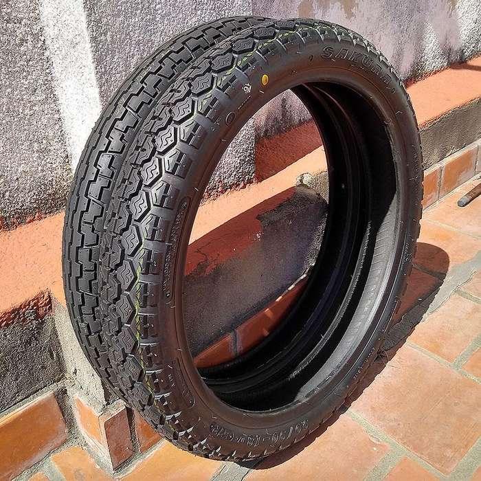 Super oferta Juego de neumáticos de moto Sakura 90/90 18 y 2.75 18 originales de la YBR 125