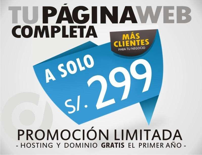 PÁGINA WEB COMPLETA WORDPRESS DOMINIO HOSTING A SOLO S/.299. ¡¡¡PROMOCIÓN LIMITADA!!!